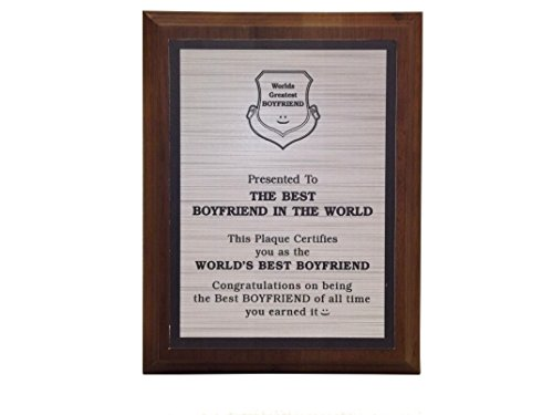 Aahs Engraving Worlds Greatest Plaques (Best Boyfriend in The World, Silver)