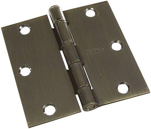 NATIONAL MFG/SPECTRUM BRANDS HHI N830-329 Door Hinge, 3.5-Inch, Antique Brass, 3-Pack