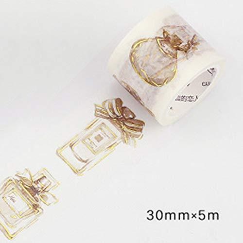 Gold Stamping Rococo Washi Tape Diy Decoration Kawaii Masking - Belt Boy Bulk Metal By Pearls Girl Bows Making Women ()