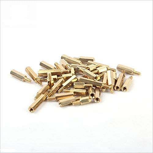 20Pcs Fasteners Panel Screws 10//20Pcs M2L+3mm M2.5//M3//M4L+6mm Hex Brass Spacing Screws Threaded Pillar PCB Computer PC Motherboard Stand Off Spacer Nails Color : 22mm, Size : M2.5
