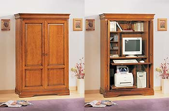 official photos 4dc23 267d3 Sophia Cherry Hideaway Computer Cupboard: Amazon.co.uk ...