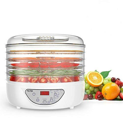 Essicatore Disidratatore Alimenti di MLITER 240w professionale PBA FREE 5 scomparti temperatura regorabile 35-70° timer programmabile per essicare frutta verdure Pomodori
