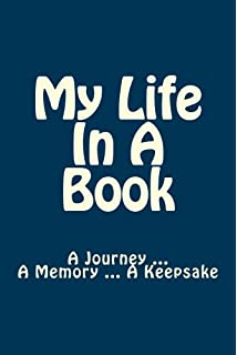 Book of me do it yourself memoir notebook diary amazon my life in a book a journey a memory solutioingenieria Images