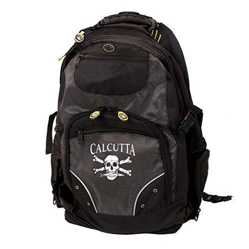 (Calcutta Black Deluxe Travel Backpack with Laptop and Tackle Storage)