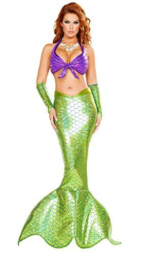 (Wonder Lingerie Plus Women's Seductive Ocean Beauty Mermaid Halloween Party)