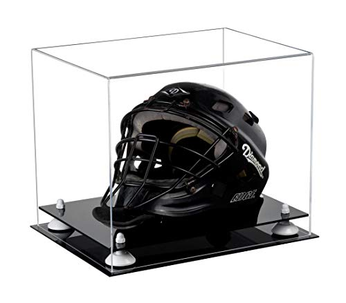 Deluxe Clear Acrylic Catchers Helmet Display Case with White Risers ()