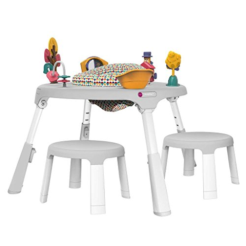 Oribel Portaplay Wonderland Adventures + Child Stools Combo, White by Oribel