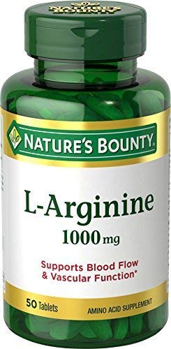 (Nature's Bounty L-Arginine 1000 mg Amino Acid Supplement Tablets - 50 ct, Pack of 6 )