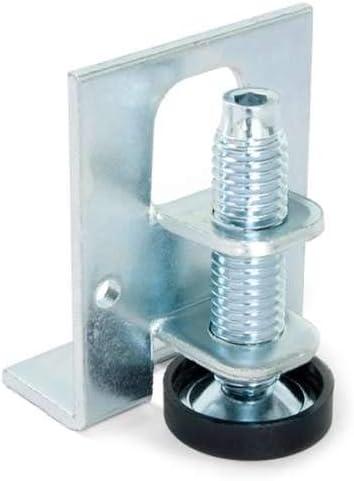 EMSea 4 pies de nivelaci/ón de muebles D40 x M8 x L80 con regulaci/ón de rotaci/ón de tuerca de bloqueo inclinaci/ón de 30 grados antideslizante