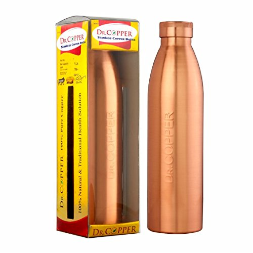 Dr. Copper World's First Seam Less Copper Water Bottle 1 Liter