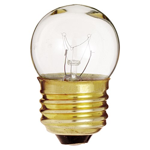 Satco 7 1/2S11 Incandescent Indicator & Sign, 7 5W E26 S11, Clear Bulb  [Pack of 24]