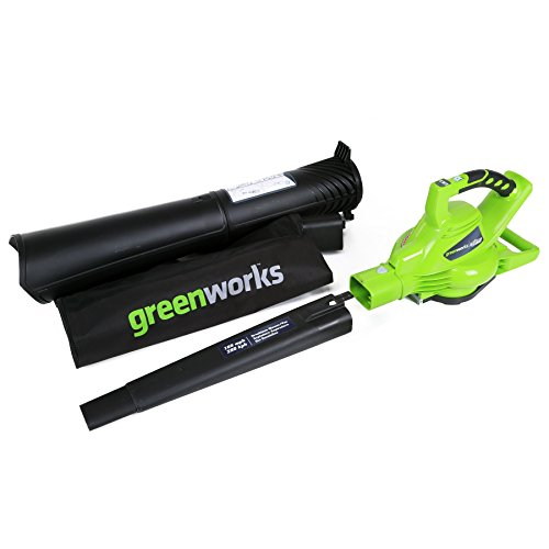 Greenworks 40V 185 MPH Variable Speed Cordless Blower Vacuum, Battery Not Included 24312 (Vacuum Grass)