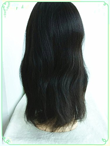 100% Chinese Virgin Human Hair,light Yaki Texture,high Ponytail Glueless Full Lace with Silk Top,in Stock Wigs--bw1201-18'' by April silk top wigs (Image #6)