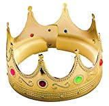 Bristol Novelty King Crown.gold With Jewels. Costume Accessories - Men's - One Size