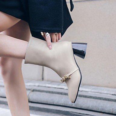 Heart&M Damen Stiefel Komfort Gladiator Schneestiefel Reitstiefel Modische Stiefel Springerstiefel Tauchschuhe Leder WinterHochzeit Normal Kleid beige