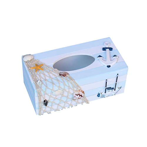 Generic-Nautical-Wood-Tissue-Box-Cover-Tissue-Case-Seashell-Fishnet-Anchor-Sailboat
