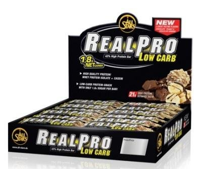 All Stars Realpro Low carb Riegel 12 x 50g 12er Pack Schoko