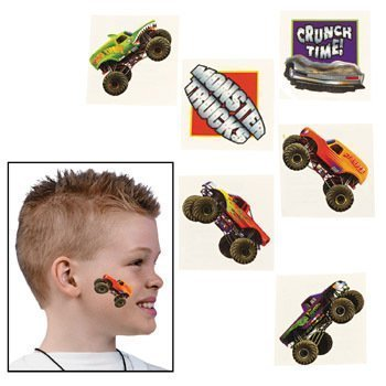 Fun Express 72 Monster Truck Temporary Tattoos ()