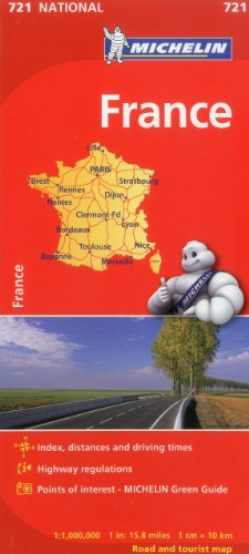 Michelin France Map 721 (Maps/Country (Michelin))