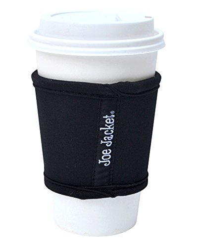 Joe Jacket Neoprene Drink Insulator, Coffee Sleeve, Cup Grip, Black (many colors ()