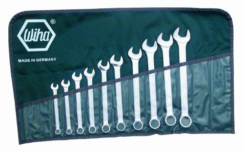 Wiha 40095 Combination Wrench Set, Inch, 10 Piece
