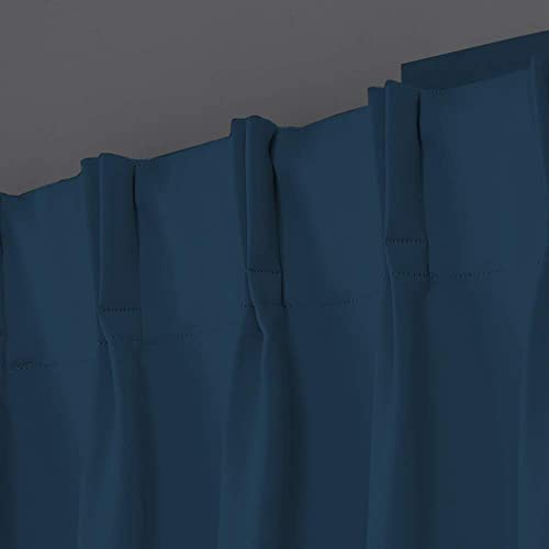 Magic Drapes Home d cor 100 Polyester Double Pinch Pleated Blackout Window Curtain Size Customization can be Done by contacting Buyer via email Navy Blue, Custom Size