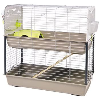 Lixit Animal Care Savic Caesar Rabbit and Guinea Pig 2-Tier Cage