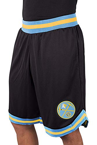 NBA Denver Nuggets Men's Mesh Basketball Shorts Woven Active Basic, Medium, ()