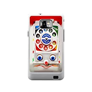 Personalized Design Toy Dial Phone SamSung Galaxy S2 I9100 Case, Wholesale Hot Selling Toy Dial Phone Galaxy S2 Case