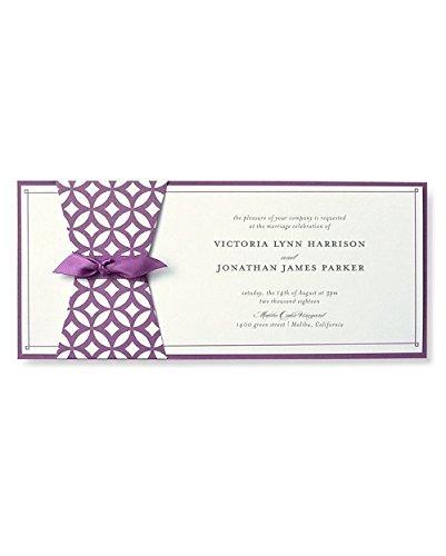 BRIDES Geometric Purple Print at Home Invitation Kit