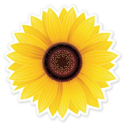 Sunflower Vinyl Sticker - Car Window Bumper Laptop - SELECT SIZE