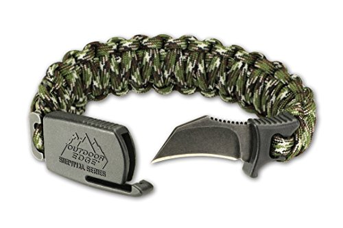 Outdoor Edge Para-Claw Paracord Knife Survival Bracelet -- Camo, SIZE (Survival Camo)