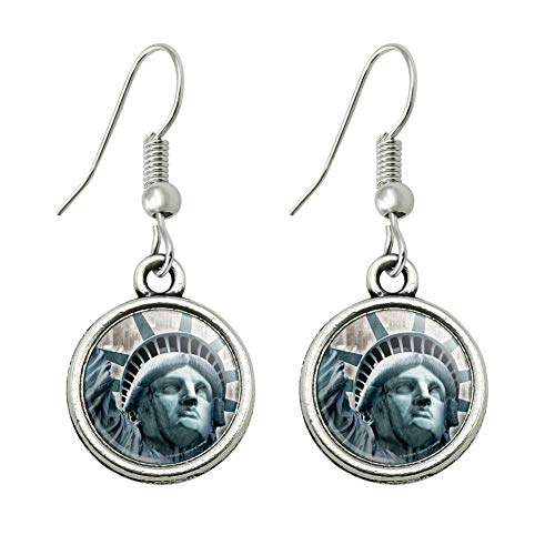 GRAPHICS & MORE Statue of Liberty New York City Novelty Dangling Drop Charm Earrings