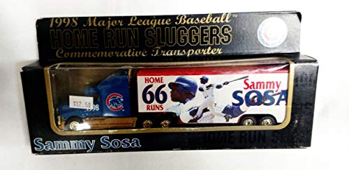 Chicago Cubs 1998 Limited Edition Sammy Sosa Commemorative Home Run Sluggers Die Cast Tractor Trailer Collectible