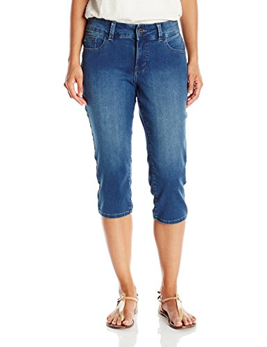 Riders by Lee Indigo Women's Ultra Soft Denim Capri, Sedona, (Capri Cropped Shorts)