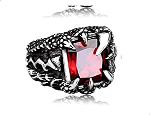 Men ring claw-shaped red agate Size 12