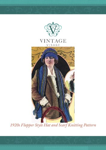 Era Hat Vintage (How to knit a 1920s Downton Abbey era flapper style striped hat and scarf)