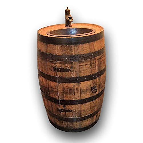 Whiskey Bourbon Barrel Vanity Sink