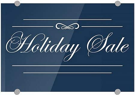 Classic Navy Premium Acrylic Sign Holiday Sale 5-Pack 27x18 CGSignLab