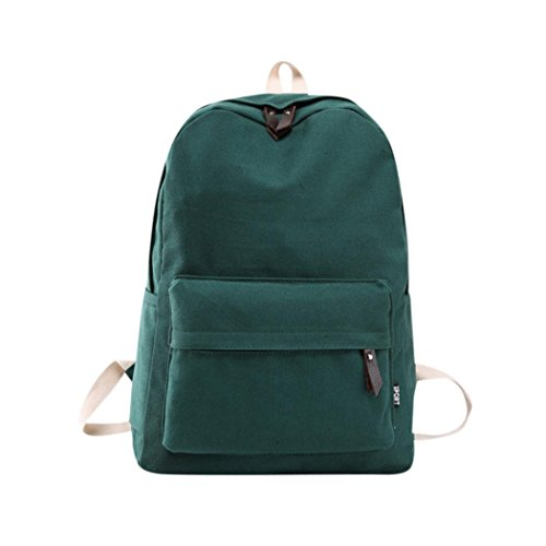 Student Laptop Daypacks,Realdo Couple Canvas Preppy Shoulder Bookbags School Travel Backpack Bag (Umbrella An What Offset Is)