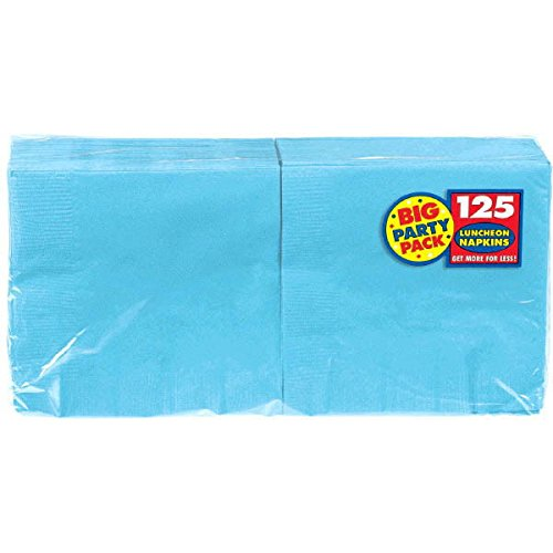 Amscan Caribbean Blue Luncheon Paper Napkins Big Party Pack, 6 Pk.