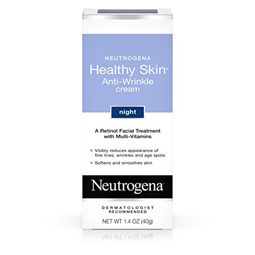 Neutrogena Healthy Skin Anti-Wrinkle Retinol Night Cream Treatment with combination of Pro-Vitamins B5, Vitamin E and Special Moisturizers, 1.4 oz