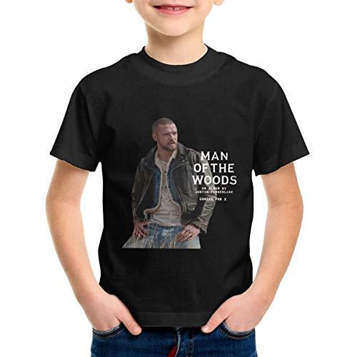 Justin Timberlake Black Shirt - Justin Timberlake Man of The Woods Unisex Girls Boys T Shirt Kids Tops 5/6T Black