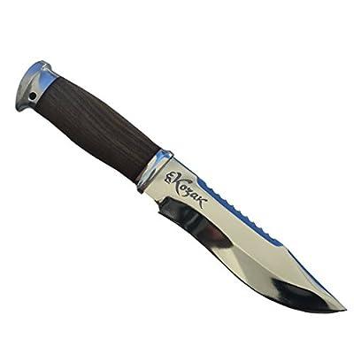 Custom Fixed Blade Adventure Knife with Leather Sheath, Kozak Taiga