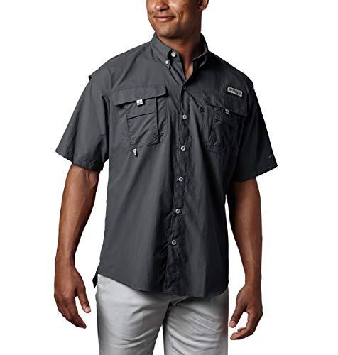 Columbia Men's PFG Bahama II Short Sleeve Shirt, Black, Large ()