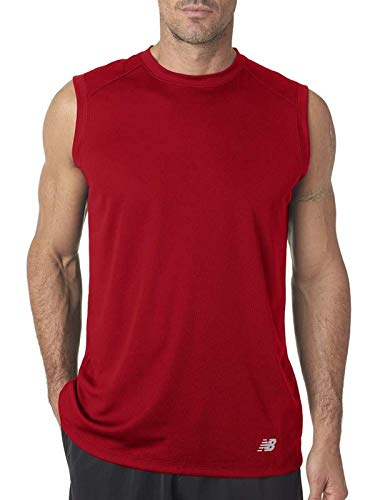 New Balance Men's Ndurance Athletic Workout T-Shirt, Large, Cherry Red