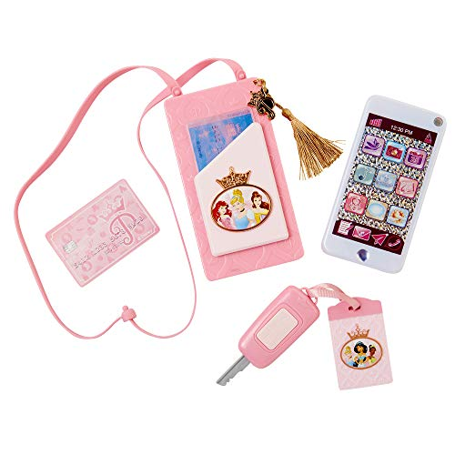 Disney Princess Style Collection On-The-Go Play Smartphone with Led Lights, Sounds & Cross Body Strap for Girls Ages 3+