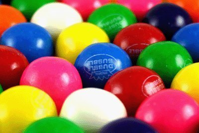 Dubble Bubble One Inch Gumballs 16 Pounds Assorted Flavors and Colors by Dubble Bubble