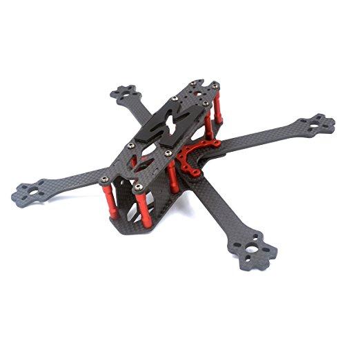 Thriverline GEPRC 220mm FPV Frame 3K Carbon Fiber Frame 4mm Thickness with PDB Board for FPV Racing Drone like QAV210 QAV250 etc (215mm)