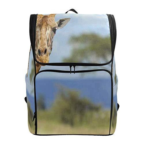 (Travel Backpack Giraffe in Front Amboseli National Gym Backpack for Men Big Casual Fashion Bookbag)